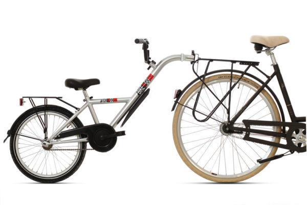 Bike2Go Freewheel aanhangfiets met bagabedrager