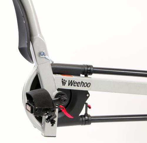 Trapper detail voor een Weehoo iGo Turbo aanhangfiets